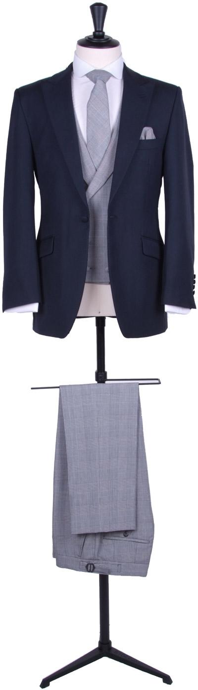 Contrast slim fit suit