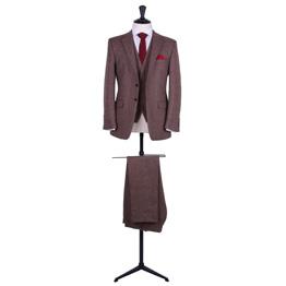 Vintage tweed wedding suit hire