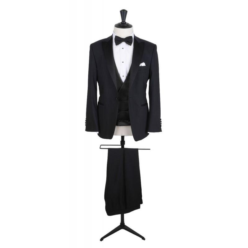 Mens Suits Slim Fit Tuxedo Wool Jackets Coats Double Breasted Peak Lapel X-Long
