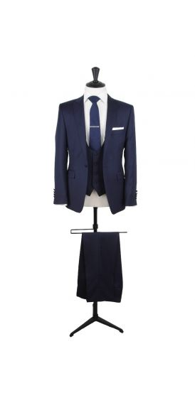 ink blue slim fit grooms wedding suit