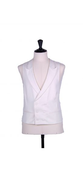 Ascot double breasted ivory wedding waistcoat