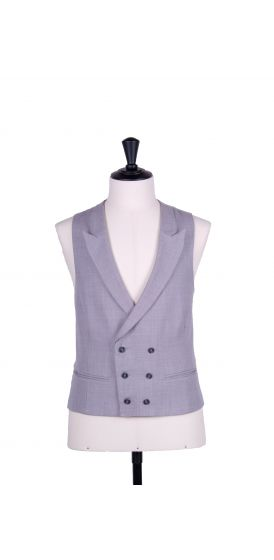 Ascot double breasted grey wedding waistcoat
