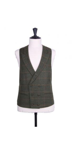 green tweed waistcoat  DB