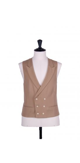 Ascot double breasted buff  wedding waistcoat
