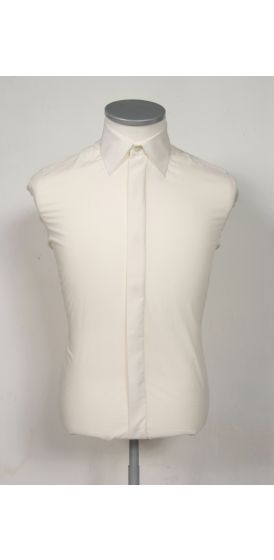 Regular collar slim fit ivory wedding shirt