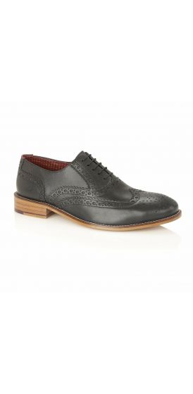 Gatsby black brogue shoes