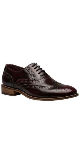Gatsby ox blood brogue shoes