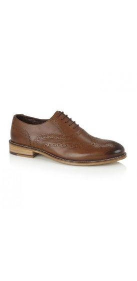 Gatsby chestnut brown brogue shoes