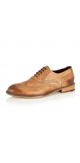 Gatsby tan brogue shoes