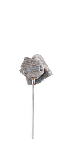 Tweed grey blue check wedding pocket square