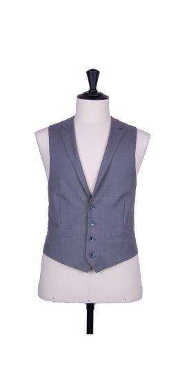 Grey pure wool collared waistcoat made to measure groom wedding