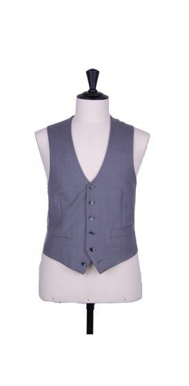Grey pure wool scallop waistcoat made to measure wedding groom