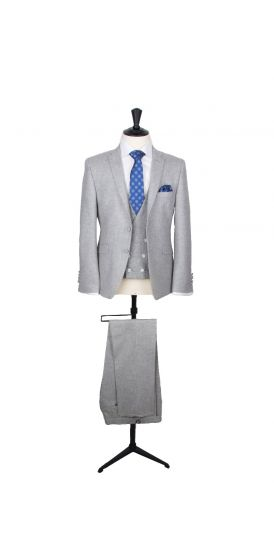 grey tweed wedding suit hire