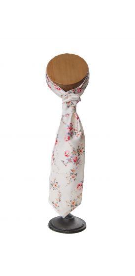 ivory tea rose wedding floral vinatge cravat
