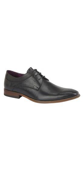 Lace up black Derby hire shoes