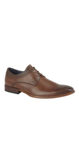 Lace up brown Derby hire shoes