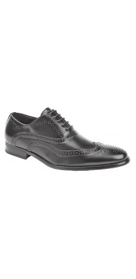 Oxford black brogue hire shoes