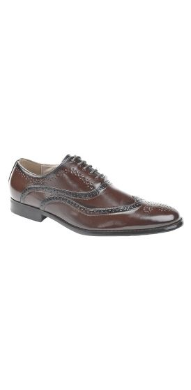 Oxford brown brogue hire shoes