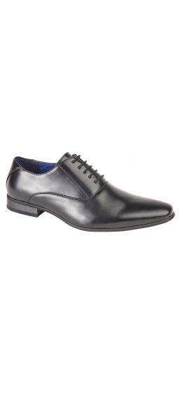 Lace up black Oxford hire shoes