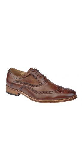 Oxford tan brogue hire shoes