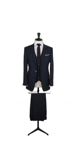 Navy pure wool custom made wedding suit
