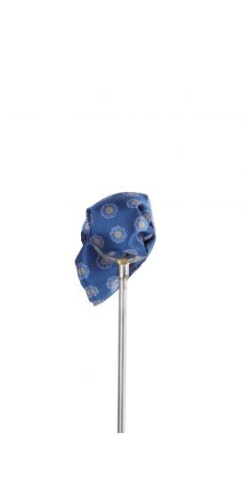 Royal blue Italian floral wedding pocket square