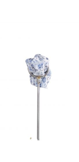 Royal blue floral wedding pocket square