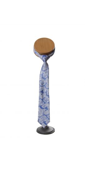 royal blue silver wedding tie paisley
