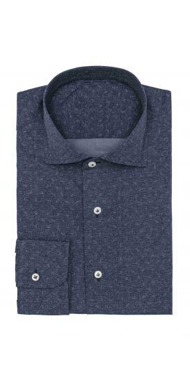 Dark blue paisley print shirt