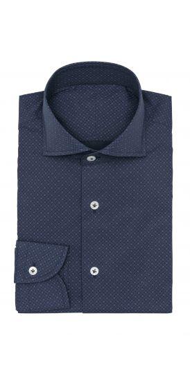 dark blue micro burgundy design shirt