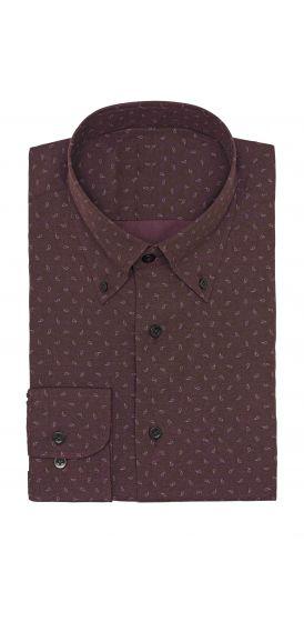 purple paisley print Shirt