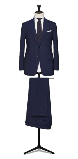 blue made to measure business suit