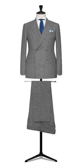high twisted lightweight tropical light grey wedding suit