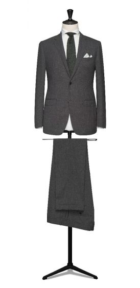 high twisted lightweight tropical mid grey wedding suit