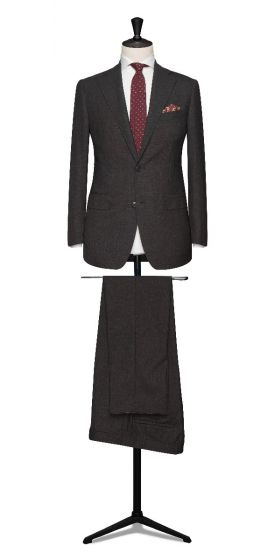 high twisted lightweight tropical charcoal grey wedding suit