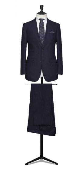 high twisted tropical navy grooms wedding suit