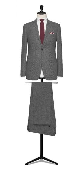 high twisted tropical light grey wedding suit