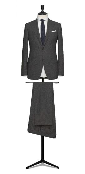 high twisted tropical mid grey made to measure business suit formal