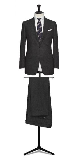 high twisted tropical charcoal grey grooms wedding suit