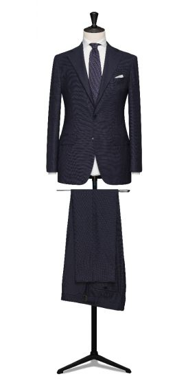 high twisted hopsack navy grooms wedding suit