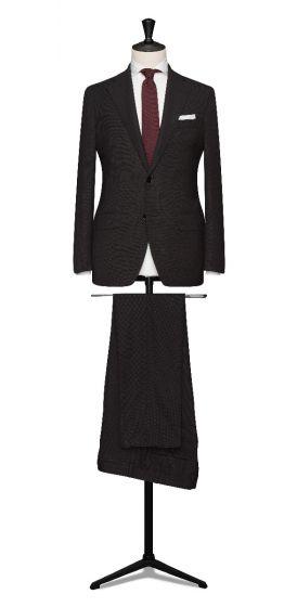 high twisted hopsack black  grooms wedding suit