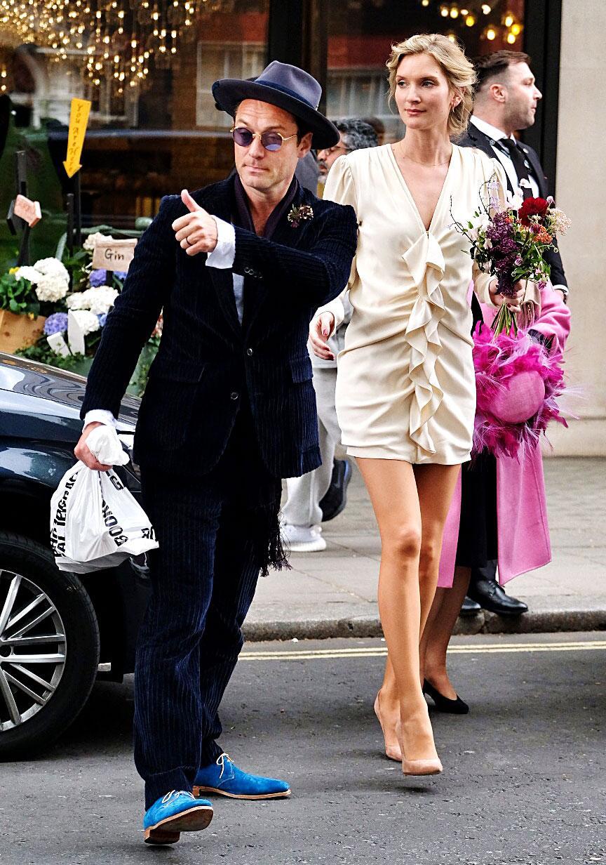 Jude Law's wedding suit