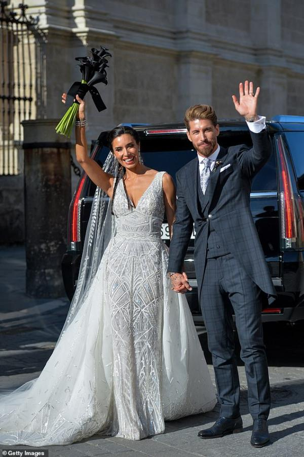 Celebrity wedding Groom, Sergio Ramos & Pilar Rubio June 2019