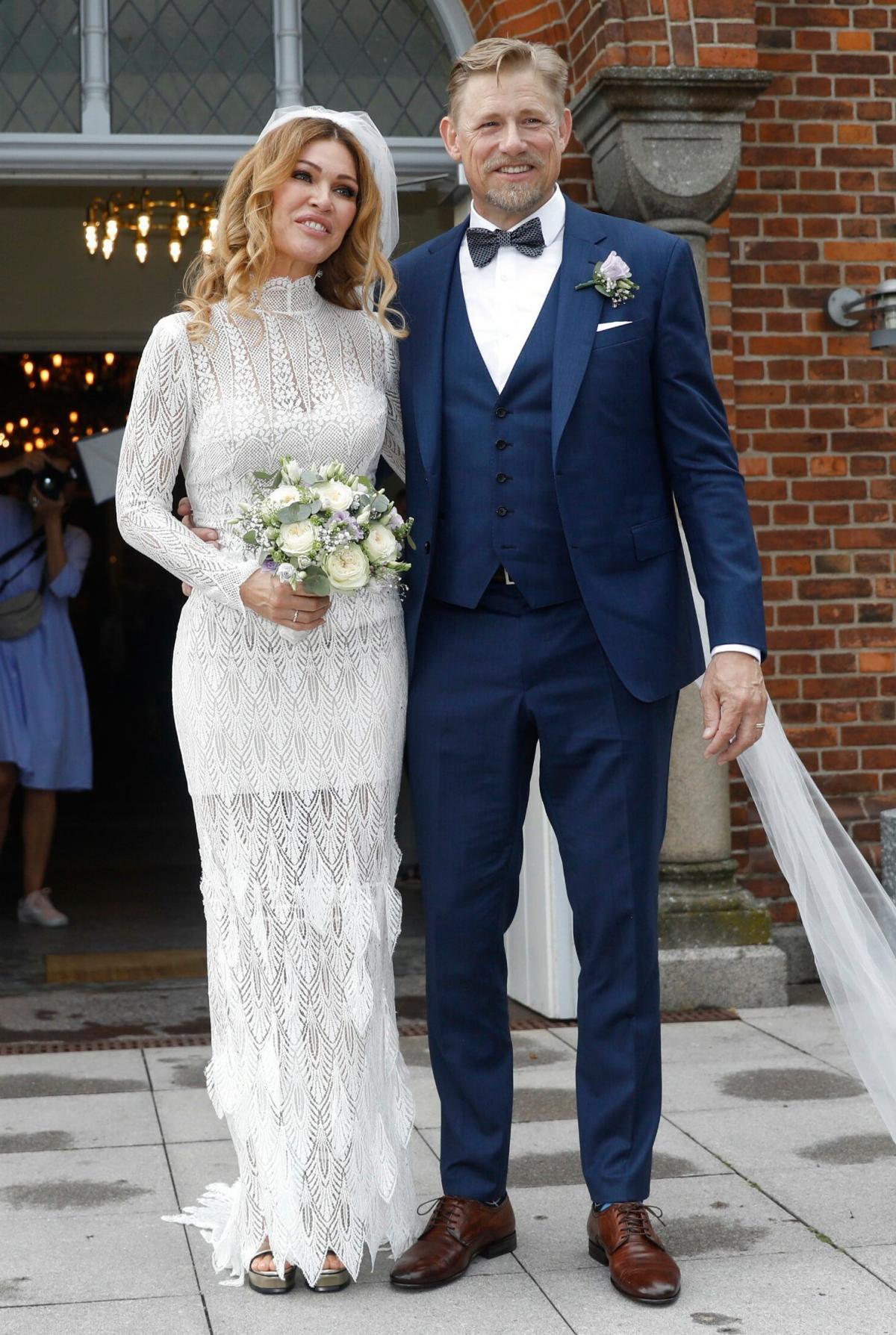 Footballer, Peter Schmeichel and Laura Von Lindholm June 2019