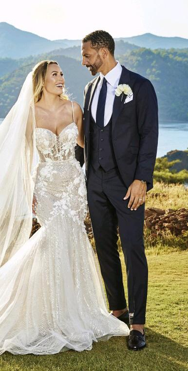 Rio Ferdinand's wedding suit