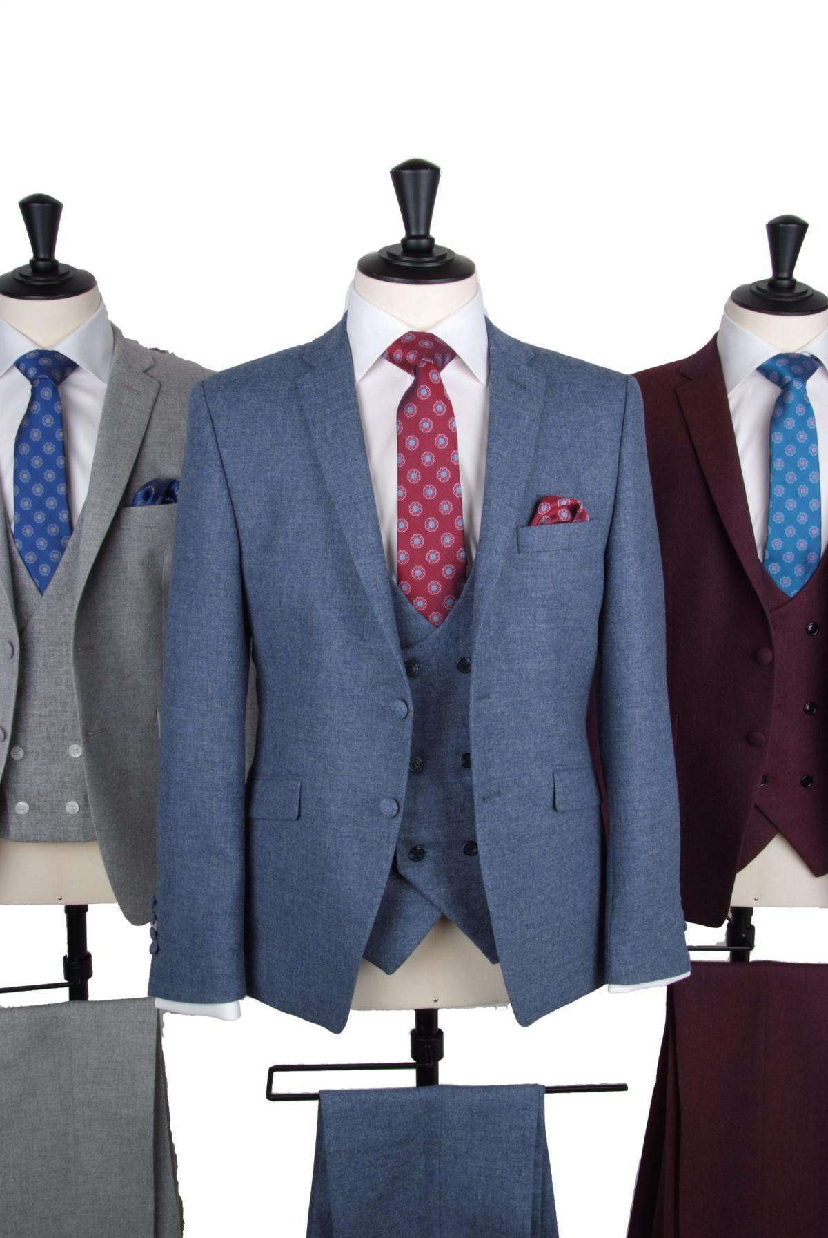 Lambs wool vintage tweed suit hire