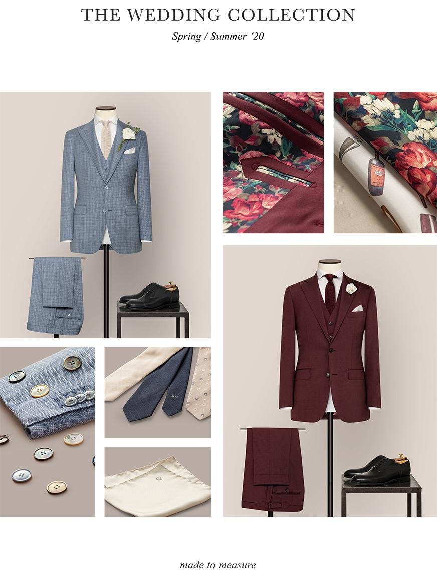 Made to measure wedding suit.