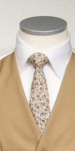 Brown liberty print tie