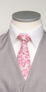 hot pink liberty print tie