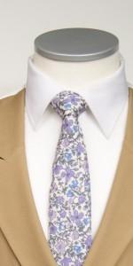 lilac liberty print tie